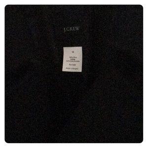 J.Crew Wool Trench Coat Black